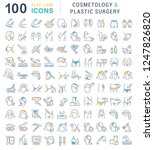 set of vector line icons of... | Shutterstock .eps vector #1247826820