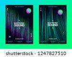 techno music poster. wave flyer ... | Shutterstock .eps vector #1247827510