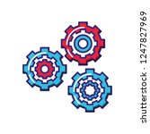 gears machinery isolated icon | Shutterstock .eps vector #1247827969