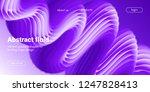 ultraviolet liquid shape.... | Shutterstock .eps vector #1247828413