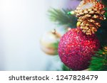decorated christmas tree with...   Shutterstock . vector #1247828479