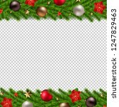 christmas garland isolated...   Shutterstock . vector #1247829463