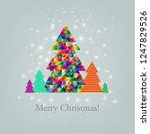 merry christmas postcard  | Shutterstock . vector #1247829526