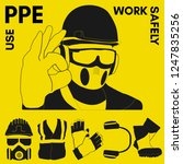 personal protective equipment... | Shutterstock .eps vector #1247835256