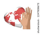 hands human friendly icons | Shutterstock .eps vector #1247838673