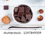 muffin baking ingredients on... | Shutterstock . vector #1247849509