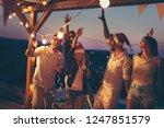 friends having fun at a...   Shutterstock . vector #1247851579