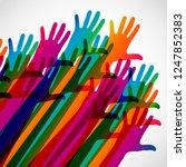 hands on a light background.... | Shutterstock .eps vector #1247852383