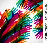 hands on a light background.... | Shutterstock .eps vector #1247852389