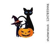 happy halloween celebration | Shutterstock .eps vector #1247855446