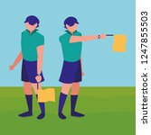 soccer line referee design | Shutterstock .eps vector #1247855503
