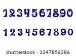 vector. set of arabic numerals...   Shutterstock .eps vector #1247856286