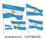 argentina vector flags set. 5... | Shutterstock .eps vector #124786060