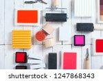 handicraft equipments  ink pads ... | Shutterstock . vector #1247868343