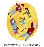 granddaughter who visited... | Shutterstock .eps vector #1247870059