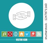 very useful vector line icon of ... | Shutterstock .eps vector #1247871160