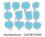 vector bubbles speech set. hand ...   Shutterstock .eps vector #1247872450