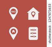 residential icon. residential... | Shutterstock .eps vector #1247873653