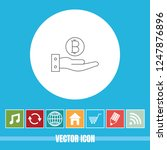 very useful vector line icon of ... | Shutterstock .eps vector #1247876896