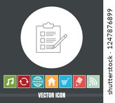 very useful vector line icon of ... | Shutterstock .eps vector #1247876899