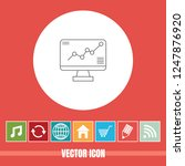 very useful vector line icon of ... | Shutterstock .eps vector #1247876920