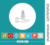 very useful vector line icon of ... | Shutterstock .eps vector #1247876923