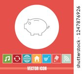 very useful vector line icon of ... | Shutterstock .eps vector #1247876926