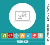very useful vector line icon of ... | Shutterstock .eps vector #1247876980