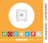 very useful vector line icon of ... | Shutterstock .eps vector #1247876983