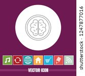 very useful vector line icon of ... | Shutterstock .eps vector #1247877016