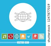 very useful vector line icon... | Shutterstock .eps vector #1247877019