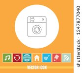 very useful vector line icon of ... | Shutterstock .eps vector #1247877040