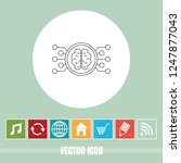 very useful vector line icon of ... | Shutterstock .eps vector #1247877043