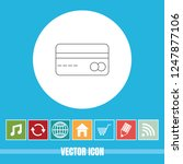 very useful vector line icon of ... | Shutterstock .eps vector #1247877106