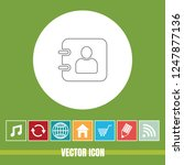 very useful vector line icon of ... | Shutterstock .eps vector #1247877136