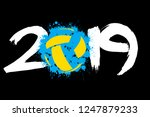 abstract number 2019 and a... | Shutterstock .eps vector #1247879233
