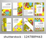 set of a4 cover  abstract... | Shutterstock .eps vector #1247889463