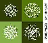 set with four beautiful...   Shutterstock .eps vector #1247894326