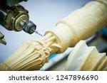 woodwork with cnc machine.... | Shutterstock . vector #1247896690