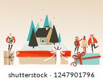 hand drawn vector abstract fun... | Shutterstock .eps vector #1247901796