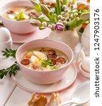 the sour soup   urek   polish... | Shutterstock . vector #1247903176
