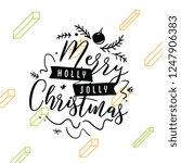 merry christmas. typography.... | Shutterstock .eps vector #1247906383