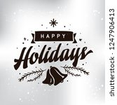 merry christmas. typography.... | Shutterstock .eps vector #1247906413
