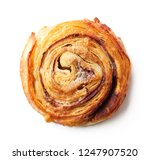 freshly baked sweet bun with... | Shutterstock . vector #1247907520