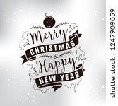 merry christmas. typography.... | Shutterstock .eps vector #1247909059