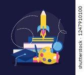 education supplies school | Shutterstock .eps vector #1247910100