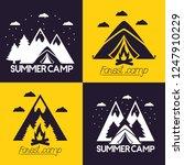 camping summer relate | Shutterstock .eps vector #1247910229