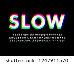 modern font typeface with... | Shutterstock .eps vector #1247911570