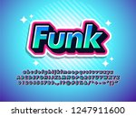 funk sticker text effect cool... | Shutterstock .eps vector #1247911600