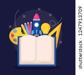 education supplies school | Shutterstock .eps vector #1247913709